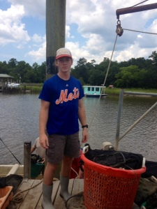 Clam Farming Lesson #1: Hats and ponytails are a necessity when the sun beats down on your freckled skin.